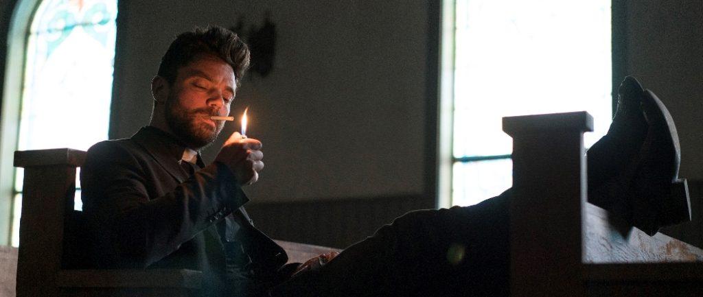 Dominic Cooper as Jesse Custer - Preacher _ Season 1, Episode 1 - Photo Credit: Lewis Jacobs/AMC